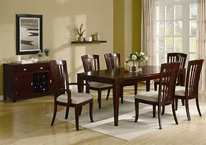 Cherry Wood Dining Room Table