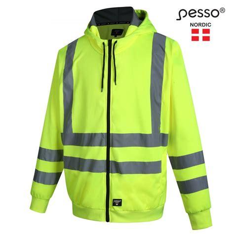 Augstas redzamības džemperis ar kapuci Pesso FL03, dzeltens - Džemperi - Darba apģērbu katalogs ...