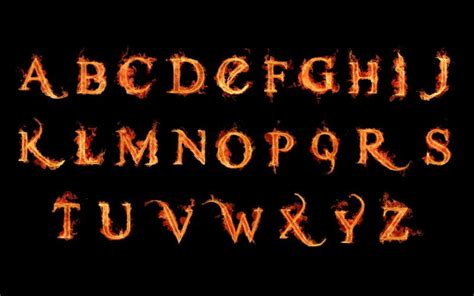 Hd Fire Alphabets A To Z Letters Wallpaper