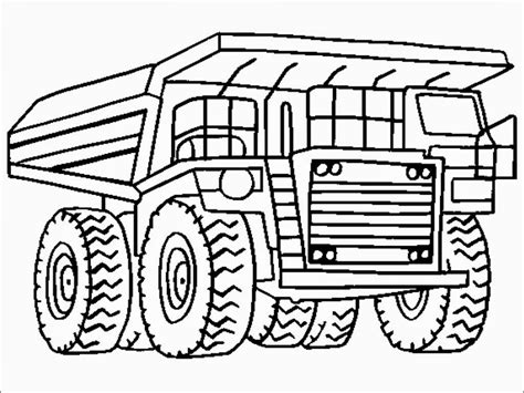 dump truck coloring pages printable realistic coloring pages