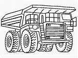 Coloring Pages Dump Truck Printable Landfill Pickup Plow Snow Realistic Template Drawing Getcolorings Printables sketch template