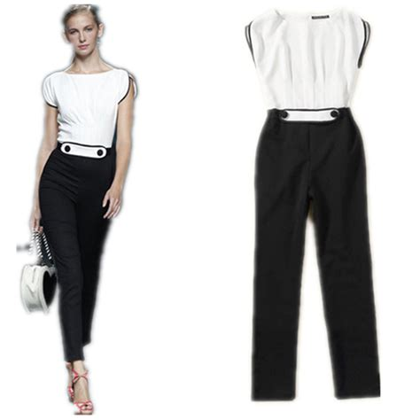 formal white jumpsuit high playsuit jumpsuits black and white