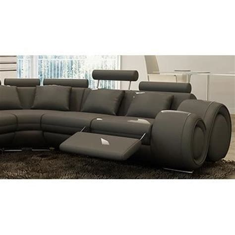 canapé relax discount canapé d 39 angle relax gris en cuir dydda achat vente