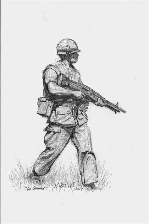 vietnam  gunner pencil drawing jsr