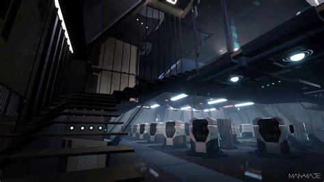 artstation sci fi server room oguzhan kar