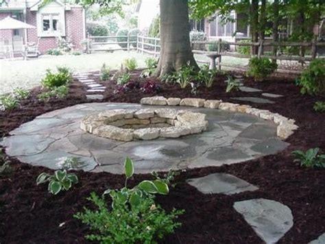 flagstone patio around pit reilly