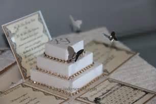 lace wedding invitations exploding box invitations