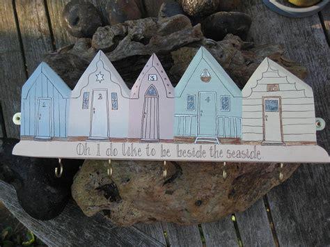 beach huts key holderhanging decoration  okey
