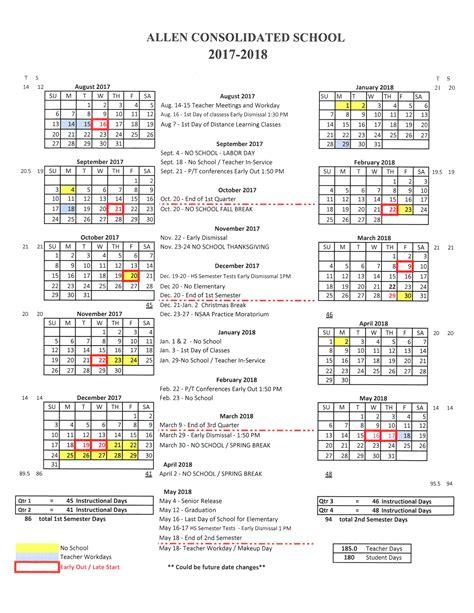 allen consolidated schools calendar publicholidaysus