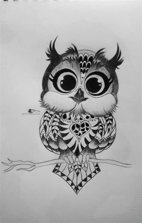 Cute owl ..by me.. With charcoal pen I love it so much Hope you love it , too | Tattoos, Baby