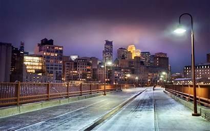 Night Snow Background