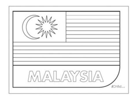 malaysia flag colouring  picture flag  malaysia ichild