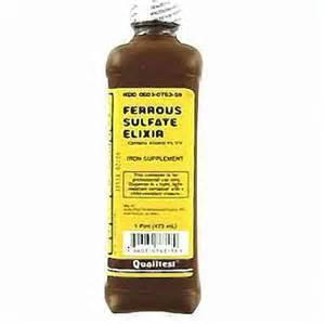 Ferrous Sulfate Elixir Liquid