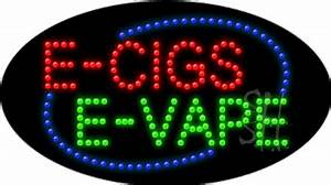 E Cigs E Vape Animated Led Sign
