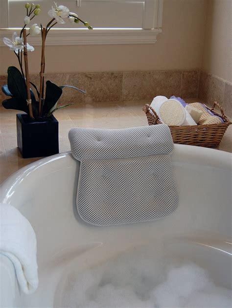 luxury plush bath spa pillow   extra large suction