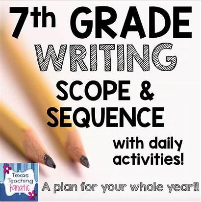 7th Grade Writing Sequence Scope Teaching Shot