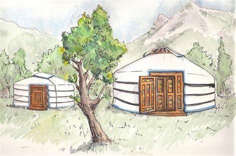 chambre hote drome illustration des yourtes sur le terrain location de