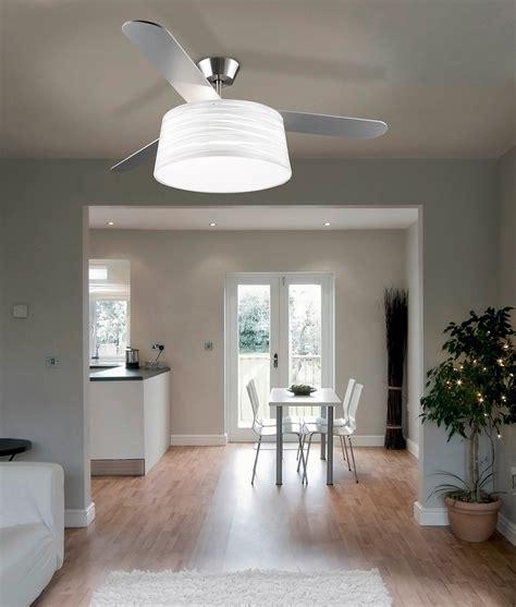 modern ceiling fan  light  drum shade