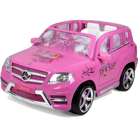 pink kid car disney princess mercedes 12 volt ride on kids car pink