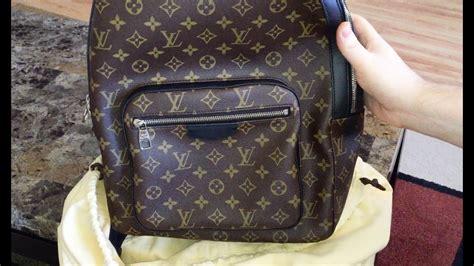 louis vuitton unboxing josh backpack monogram canvas