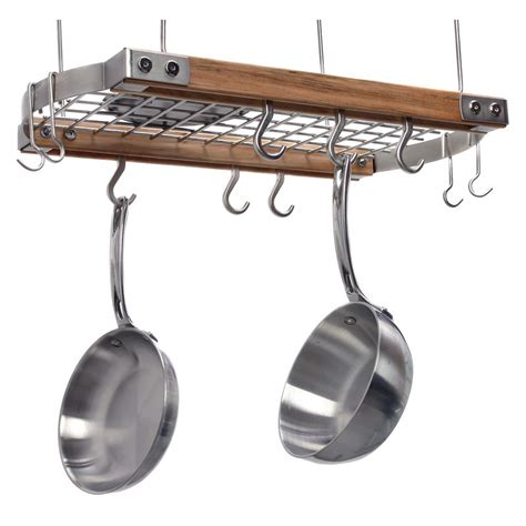 Brunswick Ceiling Pot Rack  Natural  Pot Racks At Hayneedle