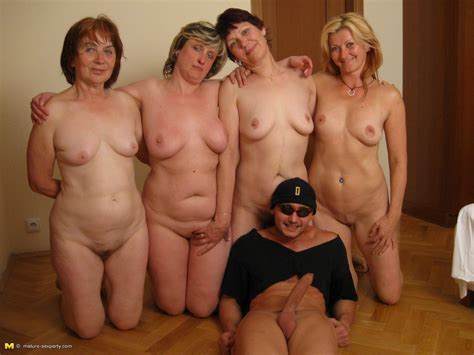 one dude bringing joy to a lot of horny older women