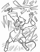 Coloring Pages Splinter Ninja Turtles Cartoons Patrol Paw Shredder Donatello sketch template