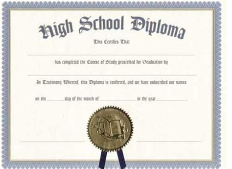 printable certificate templates ged cert  high