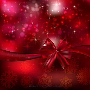 Dark Red Christmas Bow Background Design | 123Freevectors