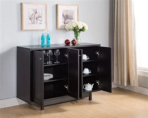151370 Smart Home Red Cocoa Fine Dining Sideboard Cabinet