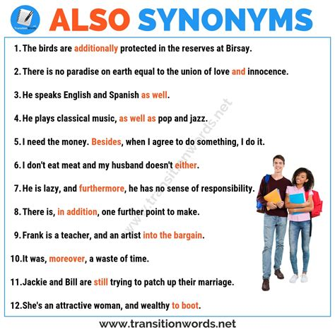 ALSO Synonym: List of 25+ Synonyms for Also in English ...