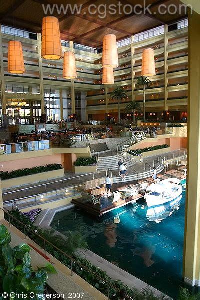 stock photo - Lobby of the Marriott Desert Springs, Palm ...