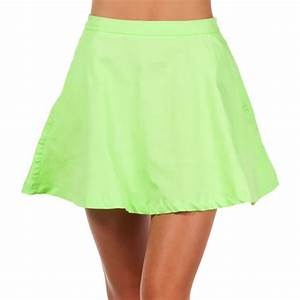 GET IT NOW Neon Sunset Skater Skirt