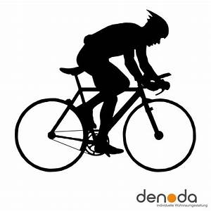 Fahrradfahrer Wandtattoo