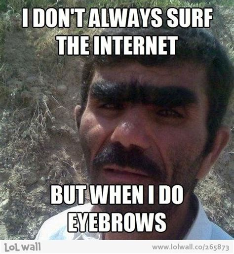 Bushy Eyebrows Meme - let me at him with a pair of tweezers jokes quotes pinterest eyebrow humor and hilarious