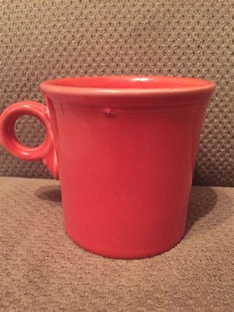 In a latest survey, more than 60% of the people said that they had an emotional attachment with their favorite mug. Fiesta Homer Laughlin Paprika Ring Handle Coffee Cup Mug #FiestaWare | Mugs, Coffee cups, Ring ...