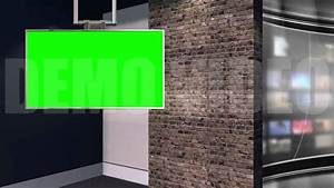 News Studio 2 - Virtual Green Screen News Background Loop ...