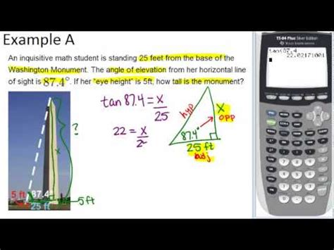 trigonometry word problems examples geometry concepts