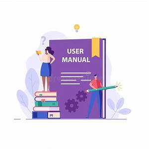 People Read User Manual Book  Managers Reading And Writing