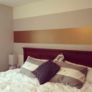 Streifen An Die Wand Malen Beispiele : wandgestaltung mit farben ideen in gold und goldnuancen ~ Markanthonyermac.com Haus und Dekorationen