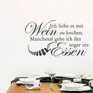 Keramiktöpfe Zum Kochen : wandtattoo spruch ich liebe es mit wein zu kochen ~ Sanjose-hotels-ca.com Haus und Dekorationen