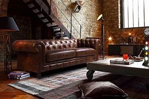 les 25 meilleures idees de la categorie canapes With tapis de yoga avec canape chesterfield cuir maison du monde