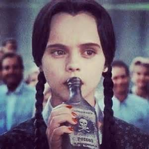 Wednesday Addams Drinking Poison Meme
