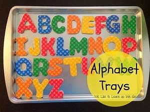 diy alphabet trays learn as we go With alphabet letter trays