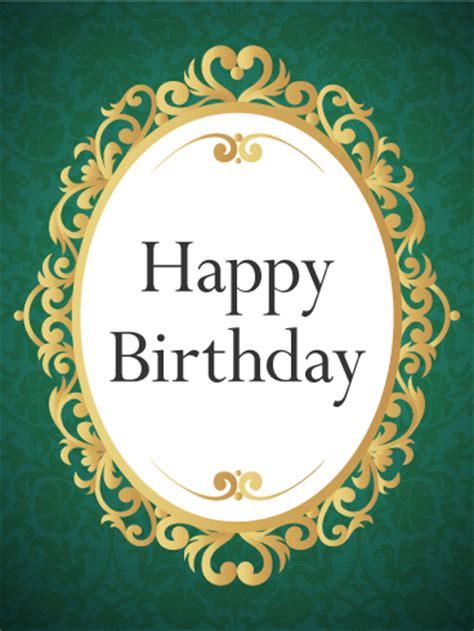 gorgeous golden frame birthday card birthday greeting