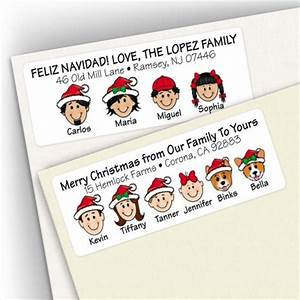 christmas address labels With caricature return address labels