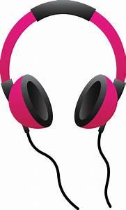Pink Headphones - Free Clip Art