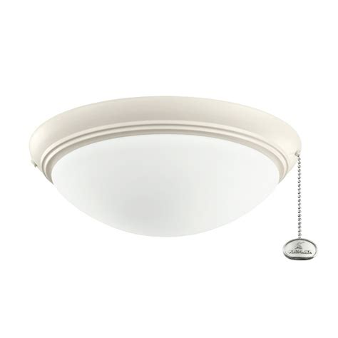 kichler lighting 380122 low profile ceiling fan light for