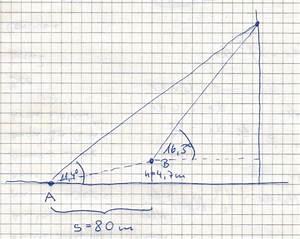 Abstand Zwischen Zwei Punkten Berechnen : trigonometrie trigonometrie ein kirchturm wird von 2 punkten vermessen die einen abstand von ~ Themetempest.com Abrechnung