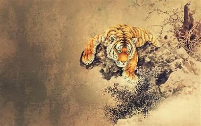 Asian Oriental Japanese Tiger